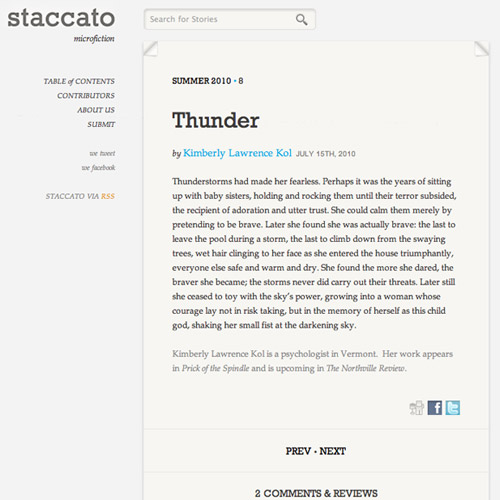 Staccato Fiction image